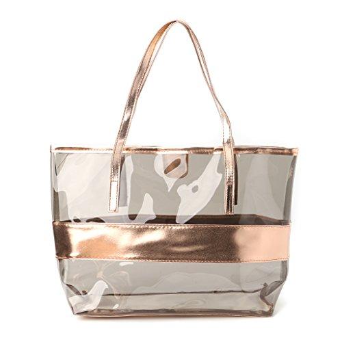 Mano de champán Kimruida Hombro para Mujer Talla Transparente única de niña para champán Mujer la Playa Bolso Bolso Rxx6w