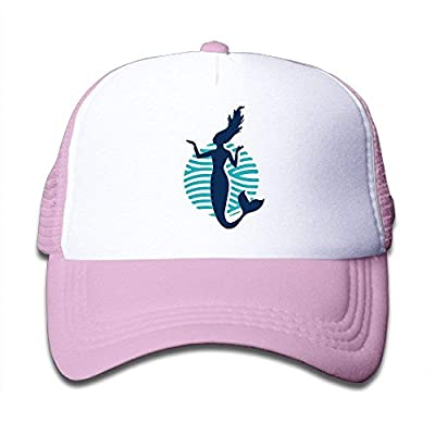 Funnny Dancer Mermaid Boys Girls Hats Snapback Mesh Cap Adjustable Baseball Caps Kid's Trucker Hat Pink