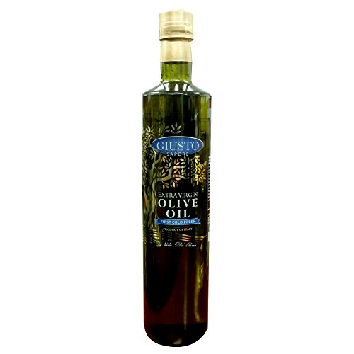 Giusto Sapore Extra Virgin Olive Oil 25oz - First Cold Press Premium Italian Gluten Free Gourmet Brand - Imported from Italy and Family Owned ()