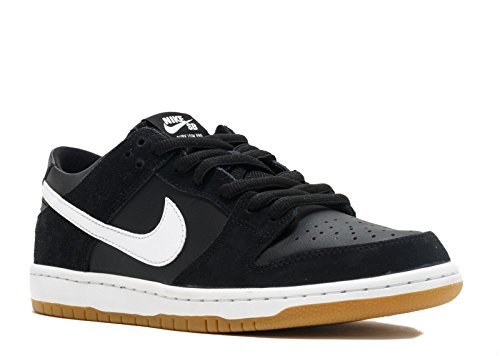 Nike Men's Sb Zoom Dunk Low Pro Black/white Gum Light Brown Skate Shoe (6.5)