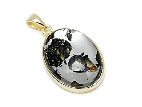 ロシア産 パラサイト セイムチャン隕石 ペンダントトップ 25×16mm No.121【1点もの】   B07NYV59TT
