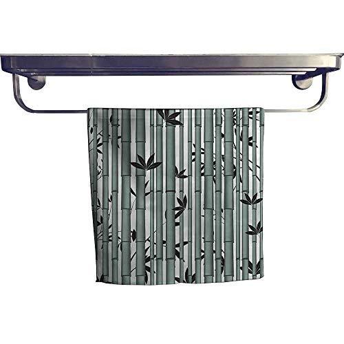Mu Bamboo Dish Towel - Leigh home Quick-Dry Towels, Flower Wildlife Panda Food Bamboo Branches Bluegrey Dimgrey ,Microfiber Towel W 20