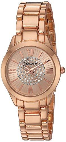 Geneva Women's GV/1004RGRG Crystal Accented Rose Gold-Ton...
