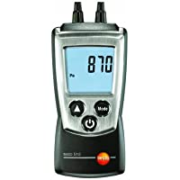 Testo 0560 0510 Pocket Pro Pressure Meter with Air Velocity, 0 to 100 hPa Range, +/- 0.01 hPa Resolution, 2 Type AAA Battery by Testo