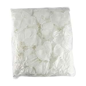 1000pétalos Artificial Bulk Pack. XL color comodidad. No prensa Packed.,, blanco