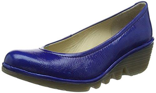 Fly London WoMen Pump Closed Toe Heels Blue (Blue)