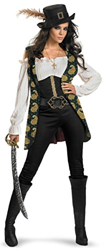 Angelica Deluxe Adult Costume - (Angelica Pirate Hat)