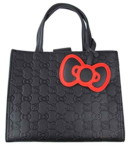 Loungefly Hello Kitty Bow Quilted Tote Purse ()