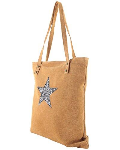 Histoiredaccessoires - Leather Handbag Woman Shoulders - Sa157233-gr-gianni Camel