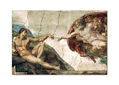 42c7946a8fee Image Unavailable. Image not available for. Color  The Creation of Adam  Michelangelo ...