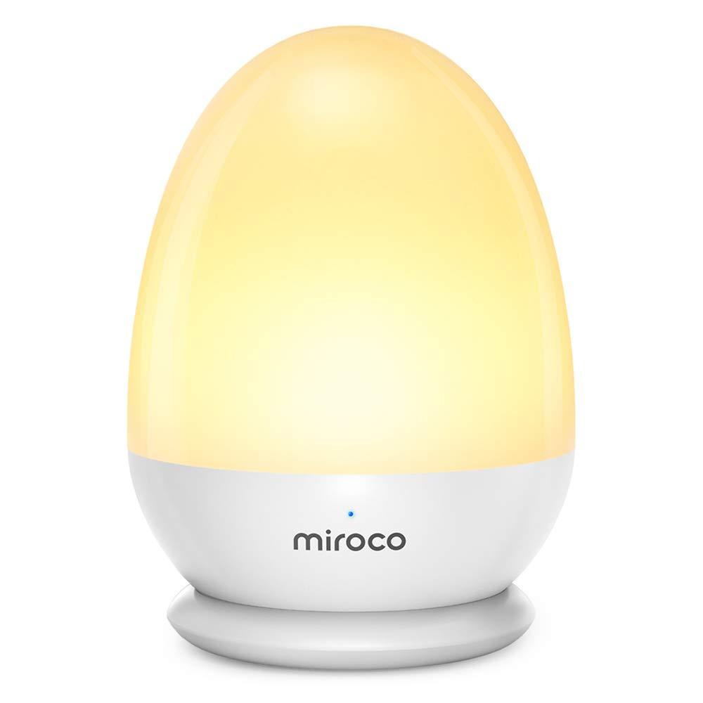Miroco Night Lights for Kids, LED Baby Nightlight Breastfeeding Light 100% Toddler Safe, Touch Lamp USB Bedside Lamp Dim Nursery Lamp Diaper Changing Night Light, Soft Eye Caring, Timer Setting