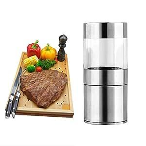 Manual Stainless Steel Salt Pepper Mill Grinder Muller Kitchen Tool OY