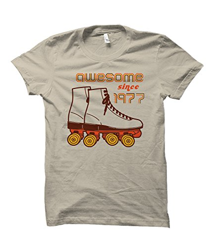 Awesome Since 1977 Retro Style Adult T-Shirt (Large) (70s Men Clothes)