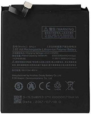 Todobarato24h Bateria Compatible con Xiaomi BN 31 Mi A1 H5X, Mi 5X ...