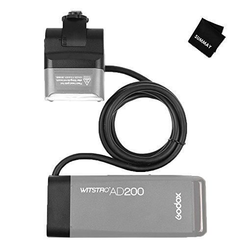 Godox EC200 200W AD200 Extension Flash Head with 2M Cable Portable Off-Camera Light Lamp for Godox AD200 Pocket Flash Speedlite