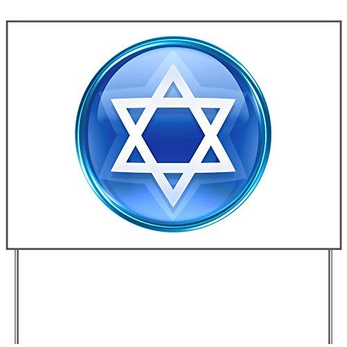 Yard Sign Blue Star of David Jewish ()