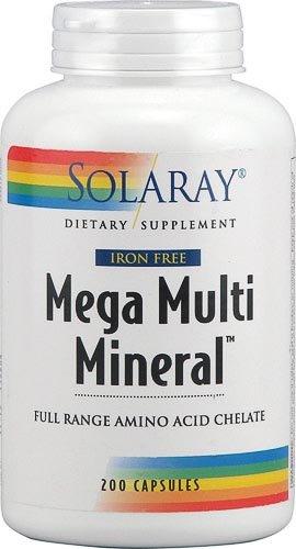 Mega нескольких Минеральная Без железа, 200 капсул
