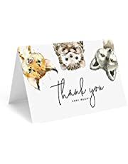 Bliss Collections Thank You Cards with Envelopes-25Tented4x6Woodland Animal Cardson Heavyweight UncoatedCard Stockfor Baby Showers and Birthday Parties -MadeintheUSA