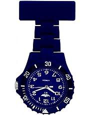 Prince London, New York, gummierter Kunststoff Schwesternuhr Uhr mit Stift, dunkelblau