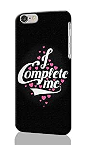 I Complete Me Pattern Image - Protective 3d Rough Case Cover - Hard Plastic 3D Case - For iphone 4 4s -