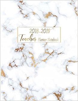 2018 2019 teacher planner notebook my 365 happy daily teacher