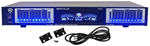 Rockville REQ20 19'' Rack Mount Pro Dual 10 Band Graphic Equalizer EQ W/VU Meters by Rockville