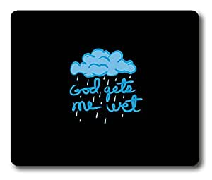 Funny God gets me wet Easter Thanksgiving Personlized Masterpiece Limited Design Oblong Mouse Pad by Cases & Mousepads