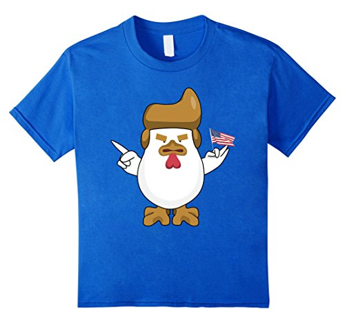 Trump Chicken With American Flag Funny Political T-Shirt