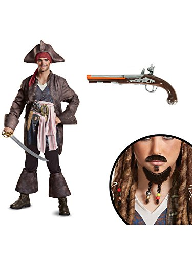Jack Sparrow Beard (Pirates of the Caribbean Captain Jack Deluxe Adult Costume Kit M)