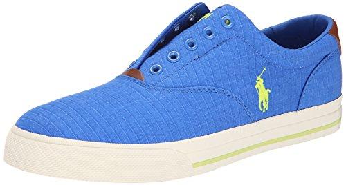 Polo Ralph Lauren Men's Vito Rubber Fashion Sneaker, Colby Blue, 9.5 D (Polo Shoes Vito)