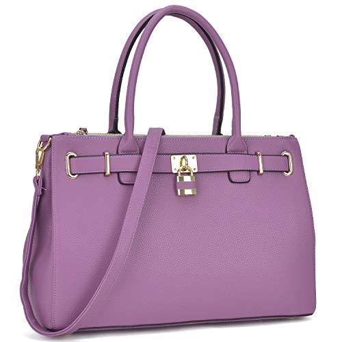 Satchel Tote Purse - Dasein Women's Top Handle Satchel Handbags Tote Designer Purse Padlock Shoulder Bag