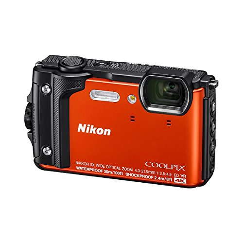 Nikon Coolpix W300 Point & Shoot Camera, Orange - Bundle with 16GB SDHC Card, Camera Case, Cleaning Kit, PC Software Package