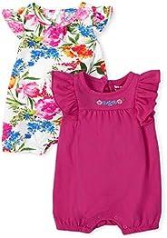 The Children's Place Mameluco Floral, Paquete de 2 Monos para Mujer para bebés n