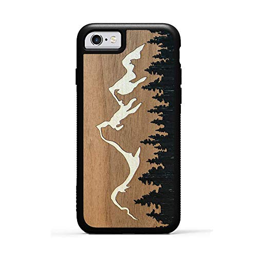 iPhone 6 / 6s Grand Teton Inlay Wood Traveler Case by Carved, Unique Real Wooden Phone Cover (Rubber Bumper, Fits Apple iPhone 6 / 6s) (For Guys Cases Iphone Metal 4)