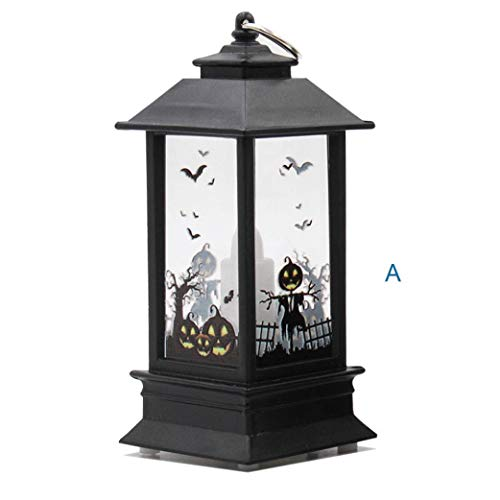 (WARMSHOP 1 PC Halloween Party Decoration Candle Flame LED Light Lamp Home Wall Decor for Kids Room, Living Room,Party as Kids Gift (Multicolor,)