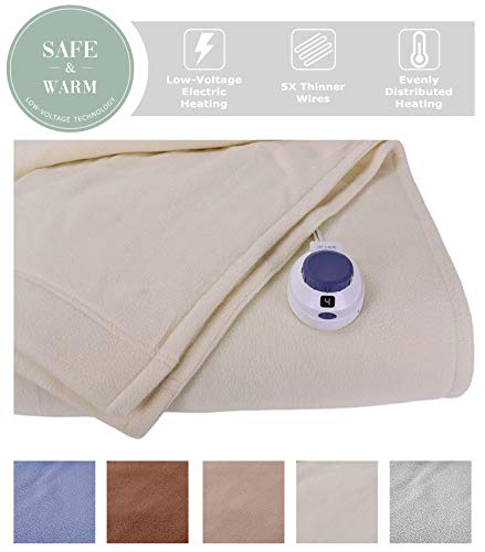 Soft Heat Luxury Micro-Fleece Low-Voltage Electric Heated Fu