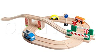 Orbrium Toys Roadway Track Add-On Pack with Railroad