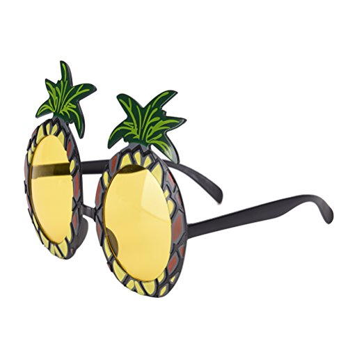 TUANTUAN 1 Pcs Funny Pineapple Shape Party Glasses Hawaiian Tropical Sunglasses for Summer Fancy Dress Party Costume Photo - Pineapple With Sunglasses