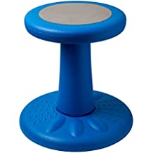 "Active Kids Chair – Wobble Chair Pre-School - Elementary School - Age Range 3-7y – Grades K-1-2 - 14"" High – Flexible Seating Classroom - Helps ADD/ADHD - Corrects Posture - Blue"