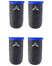 For professional Players Game Finger Breathable Sweat-proof Gloves Professional Thumbs Cover Touchscreen Finger Sleeves For PUBG Phone Games ( Blue color )