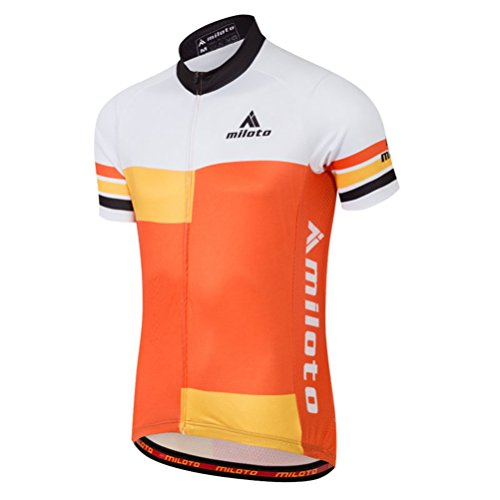 Uriah Men's Cycling Jersey Short Sleeve Reflective Orange Style Size XL(CN)