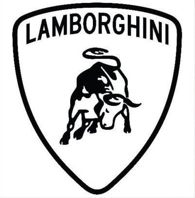 Pegatina Con Logo Del Escudo Lamborghini Y Dibujo Del Toro De La