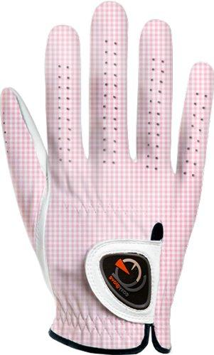 easyglove Classic_Vichy-Pink-W-R Women s Golf Glove White