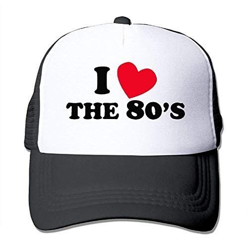 I Love The 80S Mesh Hat Unisex Trucker Caps Sun Mesh Back Cap Hat Sport ()