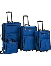 Journey Softside Upright Luggage Set, Blue, 4-Piece (14/19/24/28)