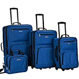 Rockland Luggage 4 Piece Set, Blue, One Size