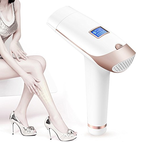 IPL Hair Removal System, LESCOLTON Home Electric Painless Laser Epilator Permanent Hair Removal Device for Women Men Body Face Bikini, LCD Display