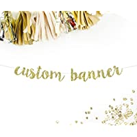 Custom Party Banner in Cursive Letters || personalized birthday baby shower anniversary wedding bridal shower baby announcement gender reveal retirement sweet 16