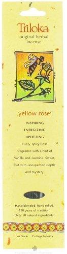 Yellow Rose - Triloka Original Herbal Incense Sticks