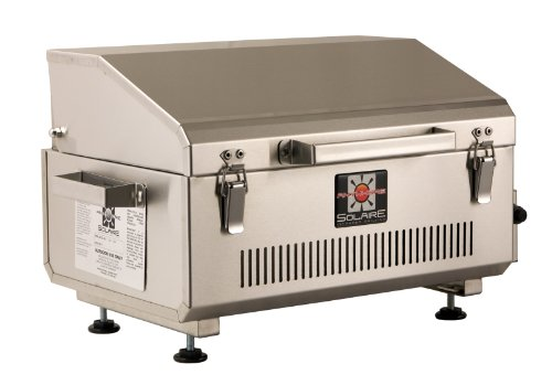 Solaire Stainless Steel Portable Grill - Solaire Anywhere Portable Infrared Propane Gas Grill, Stainless Steel